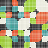Retro seamless pattern with leaves Royalty Free Stock Photos
