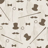 Retro seamless pattern for man Stock Image