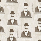 Retro seamless pattern for man Stock Photography
