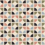Retro seamless pattern. Mid-century modern style. Abstract repeating background. Geometric vector wallpaper royalty free illustration