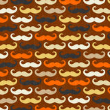 Retro seamless pattern with mustache Stock Photos