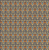 Retro seamless pattern, Orange yellow blue background. Fabric seamless pattern, Print, Texture for web Royalty Free Illustration