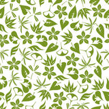 Retro seamless pattern of pale green leaves Royalty Free Stock Photo