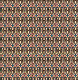 Retro seamless pattern, Pink blue cream black background. Fabric seamless pattern, Print, Texture for web Royalty Free Illustration