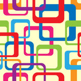 Retro Seamless Pattern. With rounded squares Stock Photo