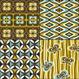 Retro Seamless Pattern Set Royalty Free Stock Images