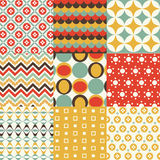 Retro seamless pattern set Stock Photography