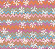 Retro seamless pattern of snowflakes. Royalty Free Stock Images