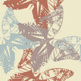 Retro seamless pattern with stylish butterfly's Royalty Free Stock Photo
