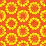Retro  seamless pattern with suns. Retro seamless patterns set. Stock Image