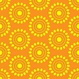 Retro  seamless pattern with suns. Retro seamless patterns set. Royalty Free Stock Photography