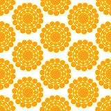 Retro  seamless pattern with suns. Retro seamless patterns set. Royalty Free Stock Photo