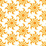 Retro  seamless pattern with suns. Retro seamless patterns set. Royalty Free Stock Image