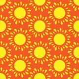 Retro  seamless pattern with suns. Retro seamless patterns set. Stock Photography