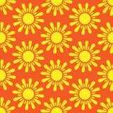Retro  seamless pattern with suns. Retro seamless patterns set. Royalty Free Stock Photos