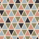 Retro seamless pattern with triangles. Scandinavian style. Abstract geometric vector background for web or printing vector illustration