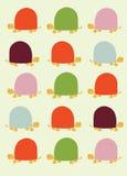Retro seamless pattern with turtles. Illustration Royalty Free Stock Photos