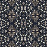 Retro seamless pattern vintage keys, birdcage and chain. Fashion fabric in a marine style. Stock Photo