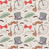 Retro seamless pattern with vintage objects Stock Image