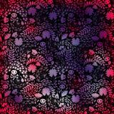 Retro.Seamless pattern voodoo cartoon with skull stock photography