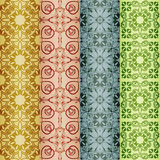 Retro seamless patterns Stock Photography