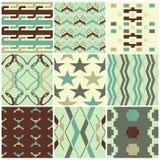 Retro seamless patterns Royalty Free Stock Image
