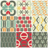 Retro seamless patterns Stock Images