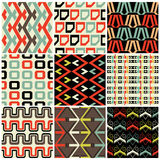 Retro  seamless patterns Stock Photography