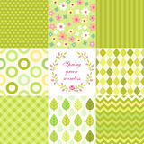 Retro seamless patterns Stock Photos