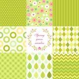 Retro seamless patterns Stock Photos