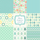Retro seamless patterns 3 Stock Photography