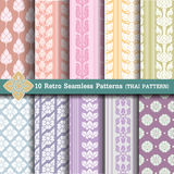 10 Retro Seamless Patterns Royalty Free Stock Image
