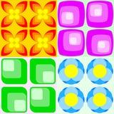 Retro seamless patterns. Vector illustration of four colorful retro seamless patterns Stock Illustration