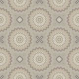 Retro Seamless (repeating) pattern. The shapes are designed in soft colors. Stock Photo