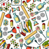Retro seamless science and education pattern Stock Photography