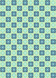 Retro seamless square pattern Stock Photo