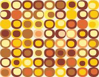 Retro seamless square pattern in vector. The decorative background of geometric shapes in vector Royalty Free Stock Photography