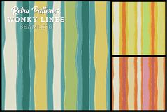 Retro Seamless Stripe Pattern 3 color optionss stock illustration