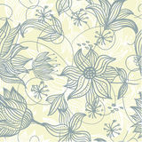 Retro seamless texture with flowers in vector. Floral seamless backgrounds for design of fabrics and wallpapers in vector Stock Image