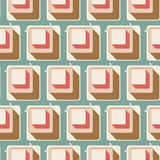Retro seamless tile pattern background Stock Photo