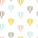 Retro seamless travel pattern of balloons. Retro seamless travel pattern of color balloons Royalty Free Stock Photo