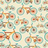 Retro seamless travel pattern of bikes Stock Image