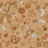 Retro seamless vector christmass pattern variant Royalty Free Stock Photo
