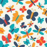 Retro seamless vector pattern of colorful Royalty Free Stock Photo