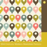 Retro seamless vector pattern. Seamless mid century modern vector pattern for fabric, wallpaper, web background Stock Illustration