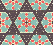 Retro Seamless Vector Wallpaper Stock Photos