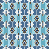 Retro Seamless Vector Wallpaper. Vector Seamless Wallpaper. Vintage Pattern. Retro Blue Background Royalty Free Stock Photography