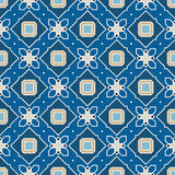 Retro Seamless Vector Wallpaper. Vector Seamless Wallpaper. Vintage Pattern. Retro Blue Background Stock Photo