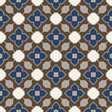Retro Seamless Vector Wallpaper. Vector Seamless Wallpaper. Vintage Pattern. Retro Blue Brown Background Royalty Free Stock Image