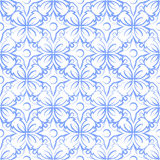 Retro seamless wallpaper background elegant blue round curve cro Royalty Free Stock Images